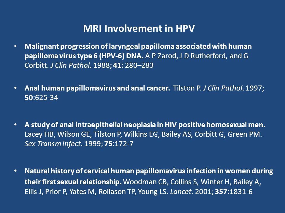 MRI Involvement in HPV