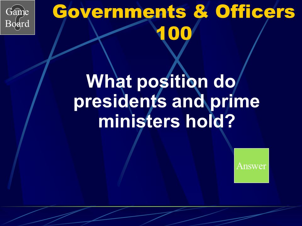 Governments & Officers 100