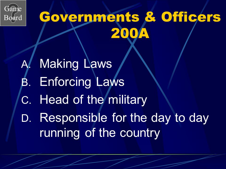 Governments & Officers 200A