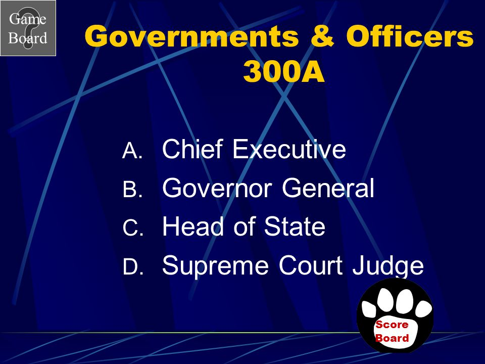 Governments & Officers 300A