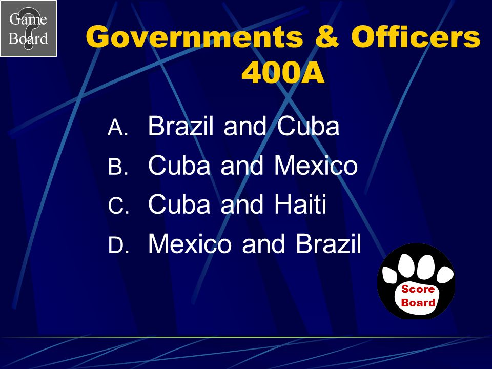Governments & Officers 400A