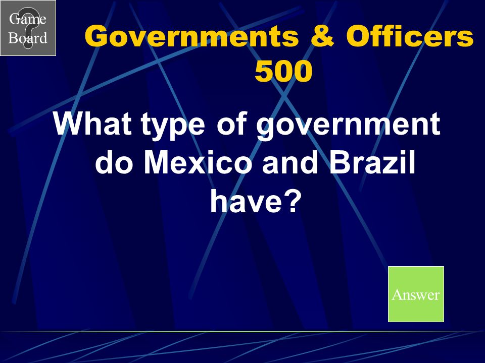Governments & Officers 500