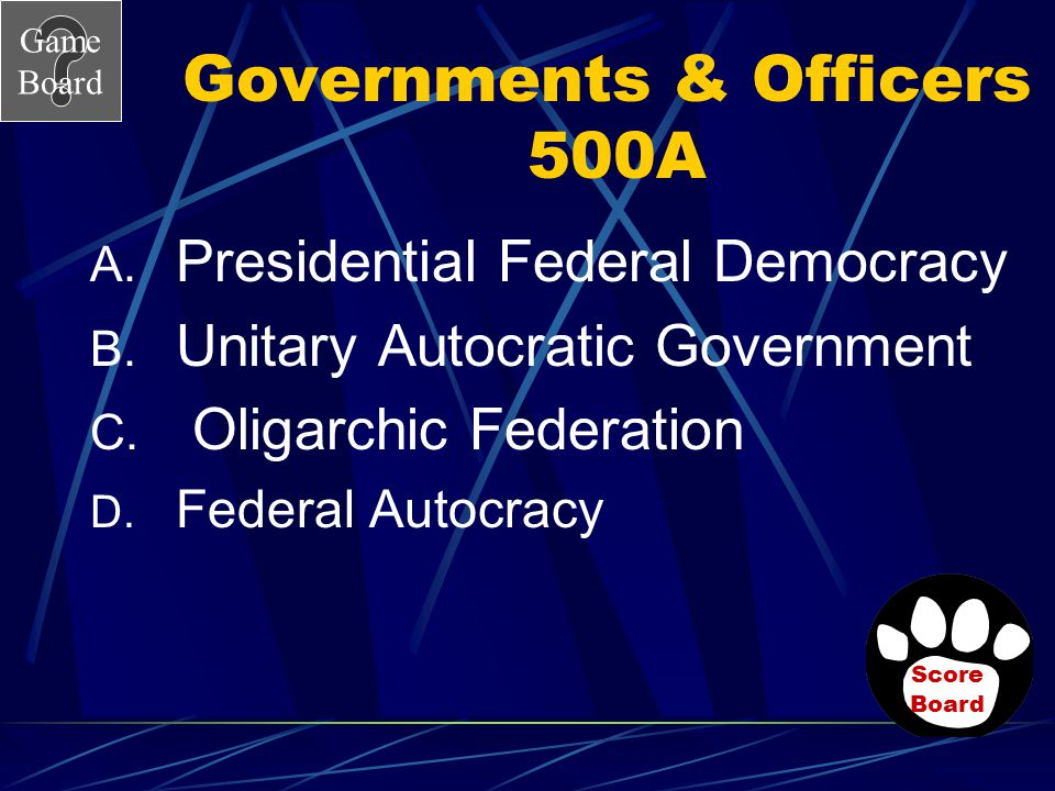 Governments & Officers 500A
