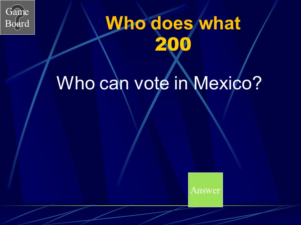 Who does what 200 Who can vote in Mexico Answer