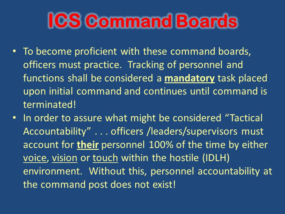 ICS Command Boards