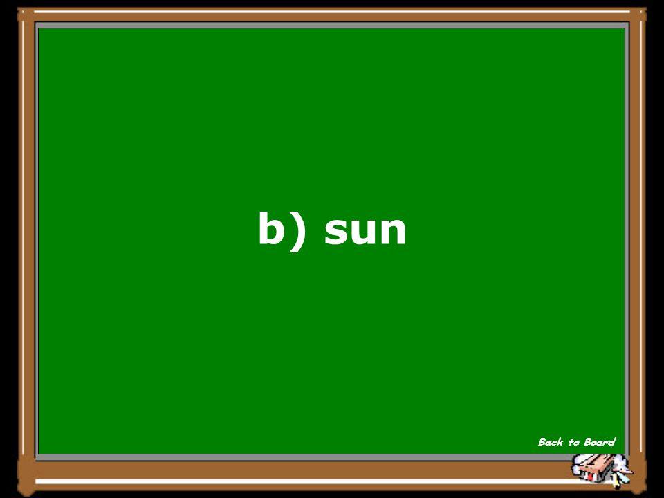b) sun Back to Board