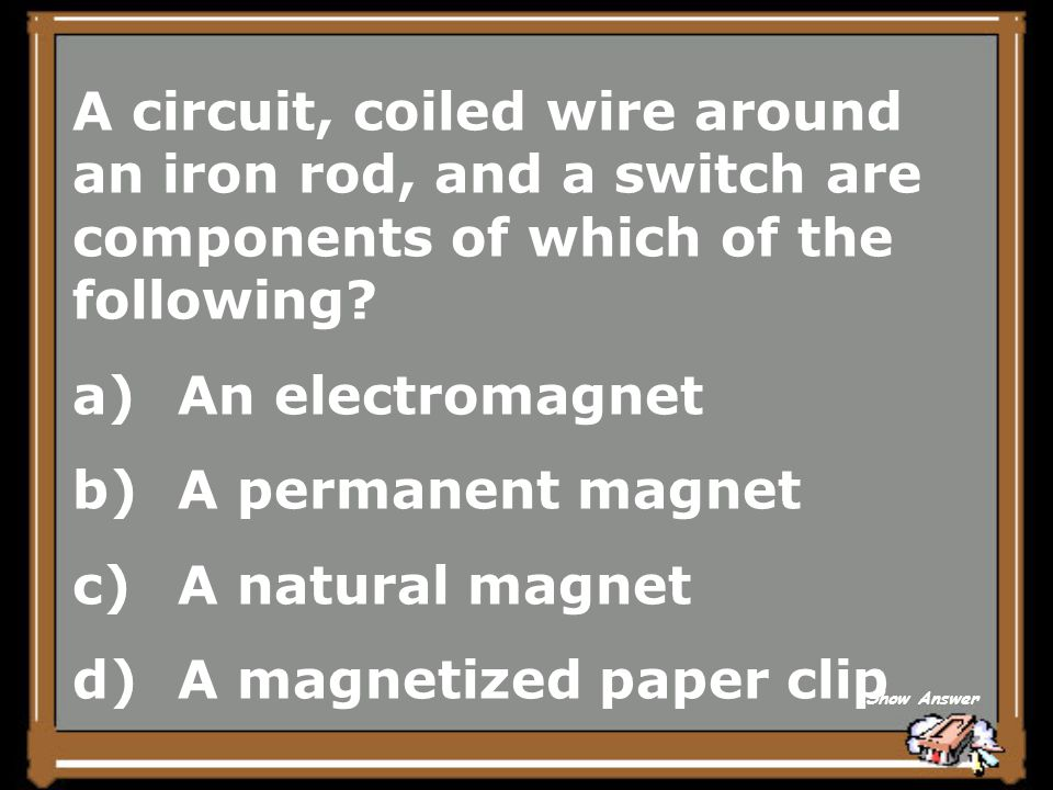 A magnetized paper clip