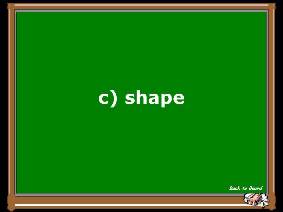 c) shape Back to Board
