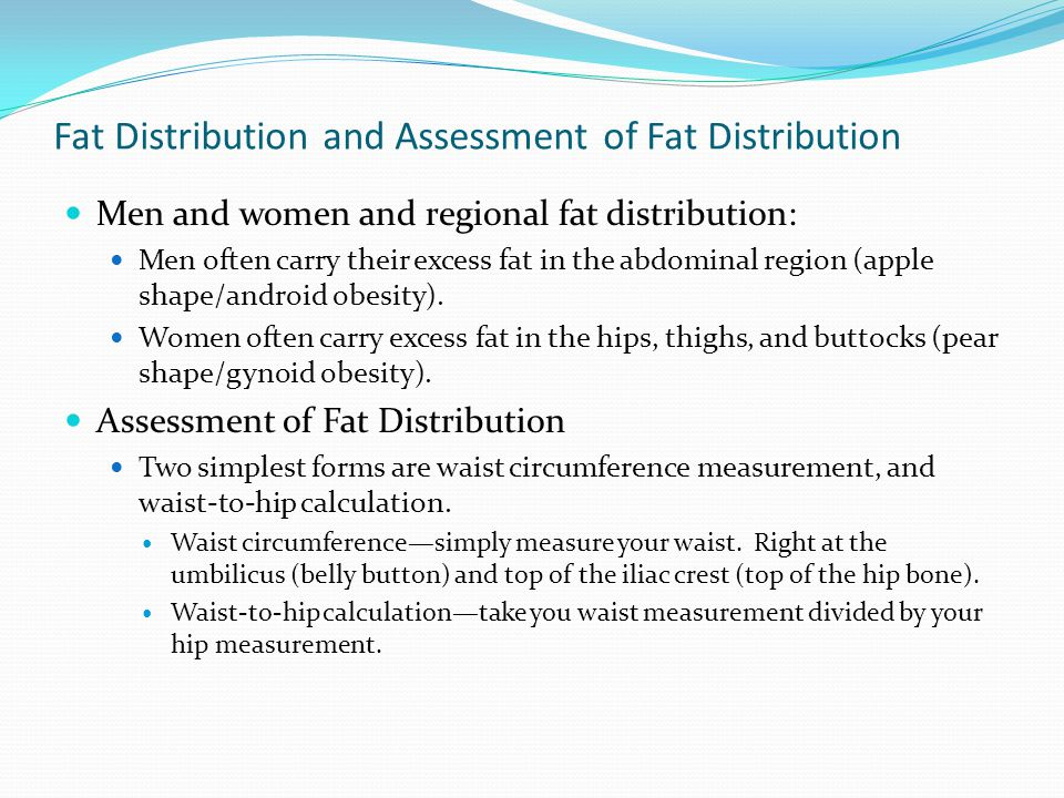 Fat Distribution and Assessment of Fat Distribution