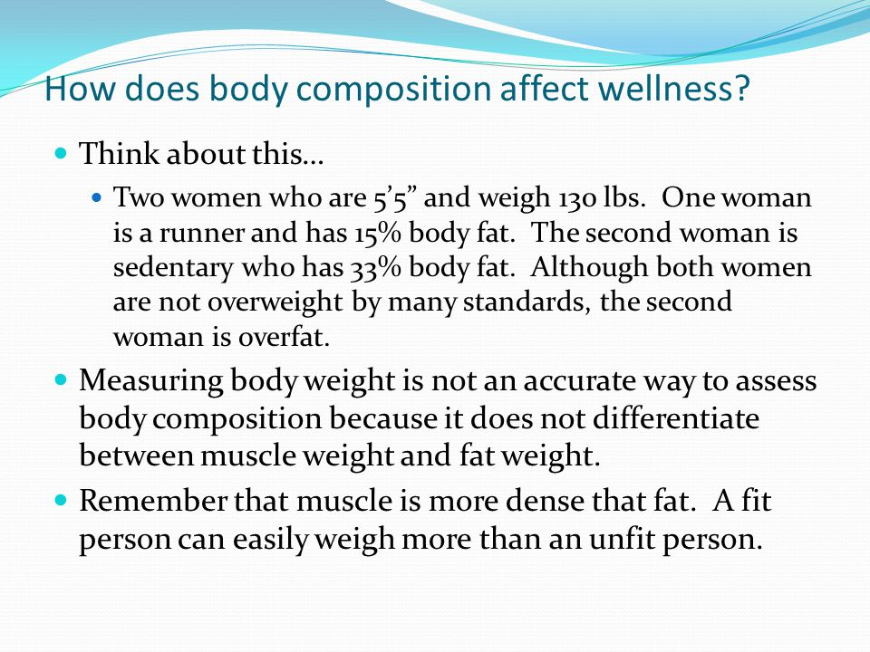 How does body composition affect wellness