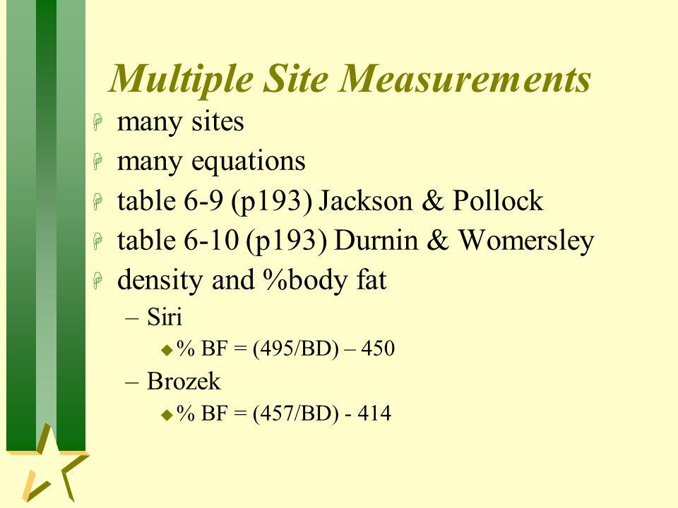 Multiple Site Measurements