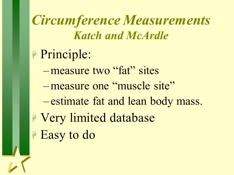 Circumference Measurements Katch and McArdle