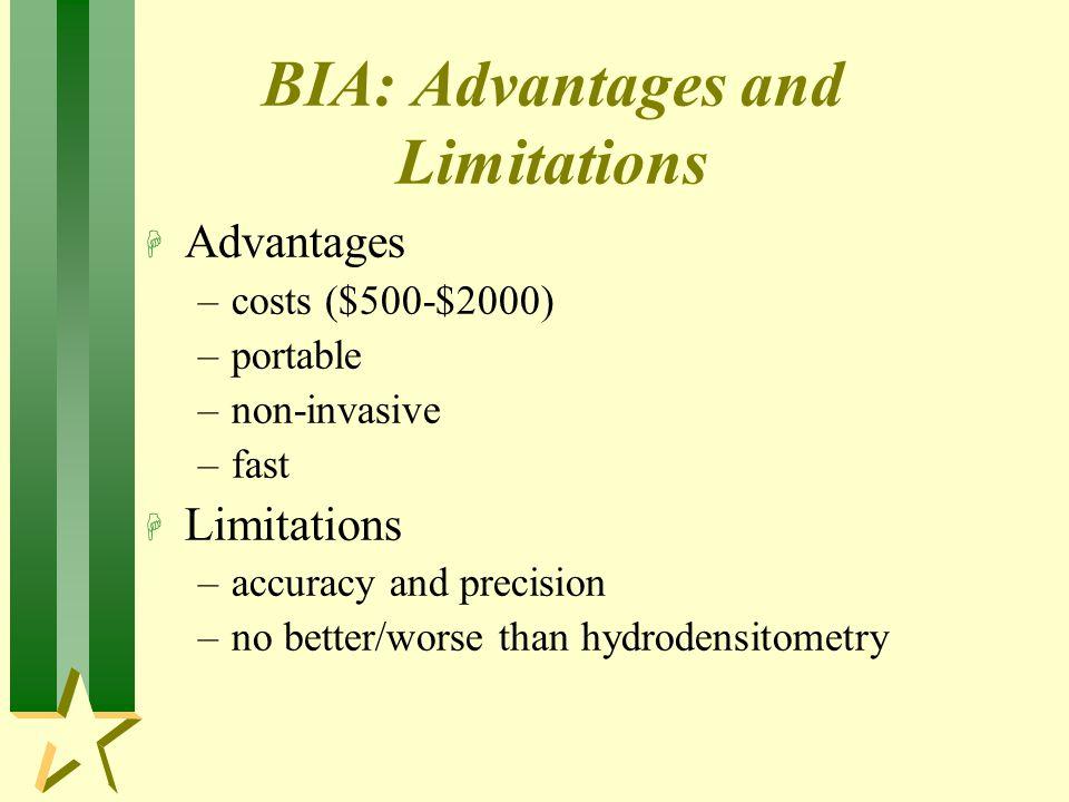 BIA: Advantages and Limitations