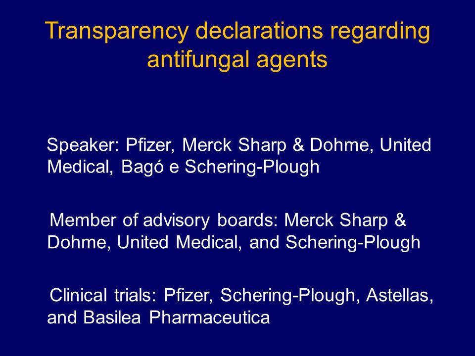 Transparency declarations regarding antifungal agents