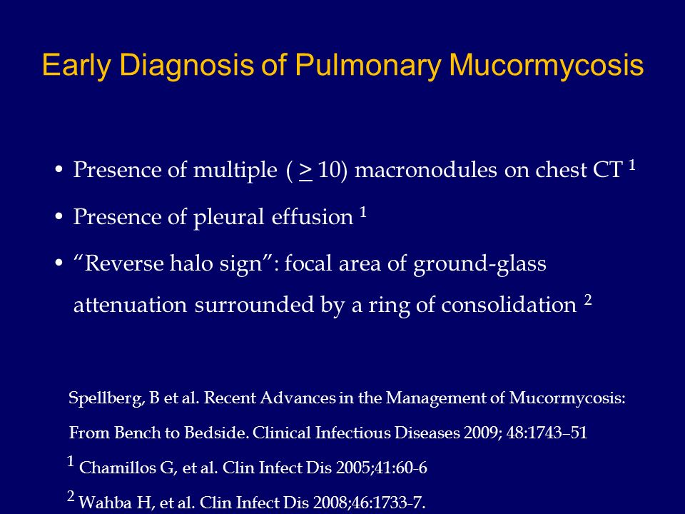 Early Diagnosis of Pulmonary Mucormycosis