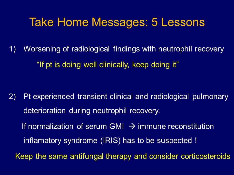 Take Home Messages: 5 Lessons