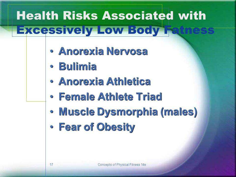 Health Risks Associated with Excessively Low Body Fatness
