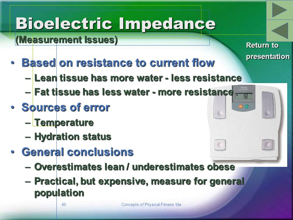 Bioelectric Impedance (Measurement Issues)