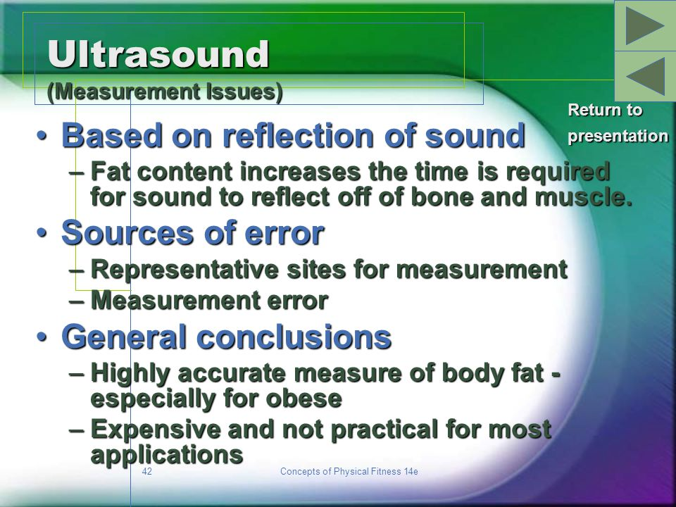 Ultrasound (Measurement Issues)