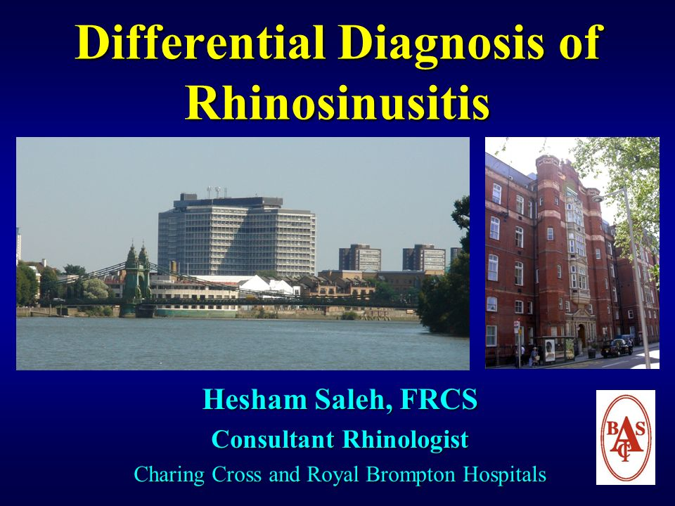 Differential Diagnosis of Rhinosinusitis