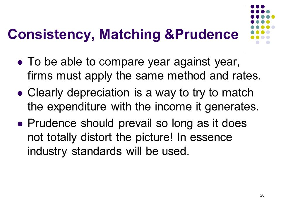 Consistency, Matching &Prudence