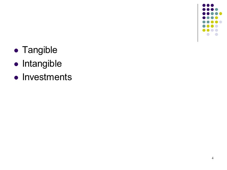 Tangible Intangible Investments