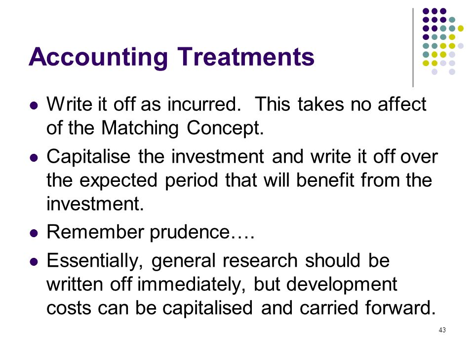 Accounting Treatments