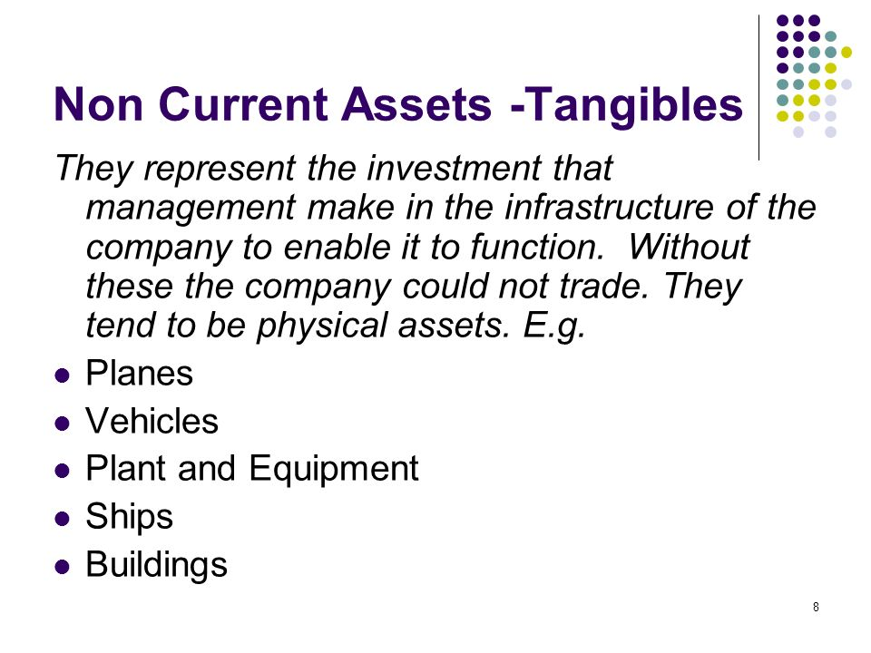 Non Current Assets -Tangibles
