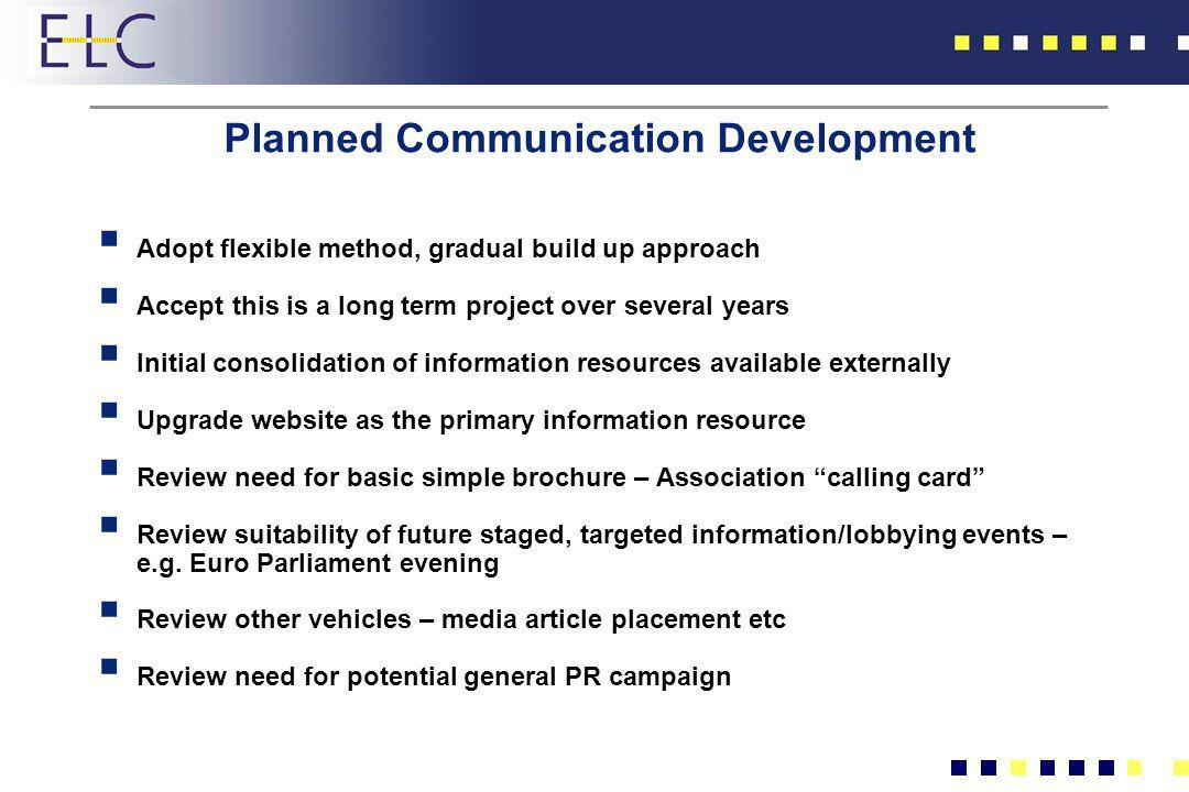 Planned Communication Development
