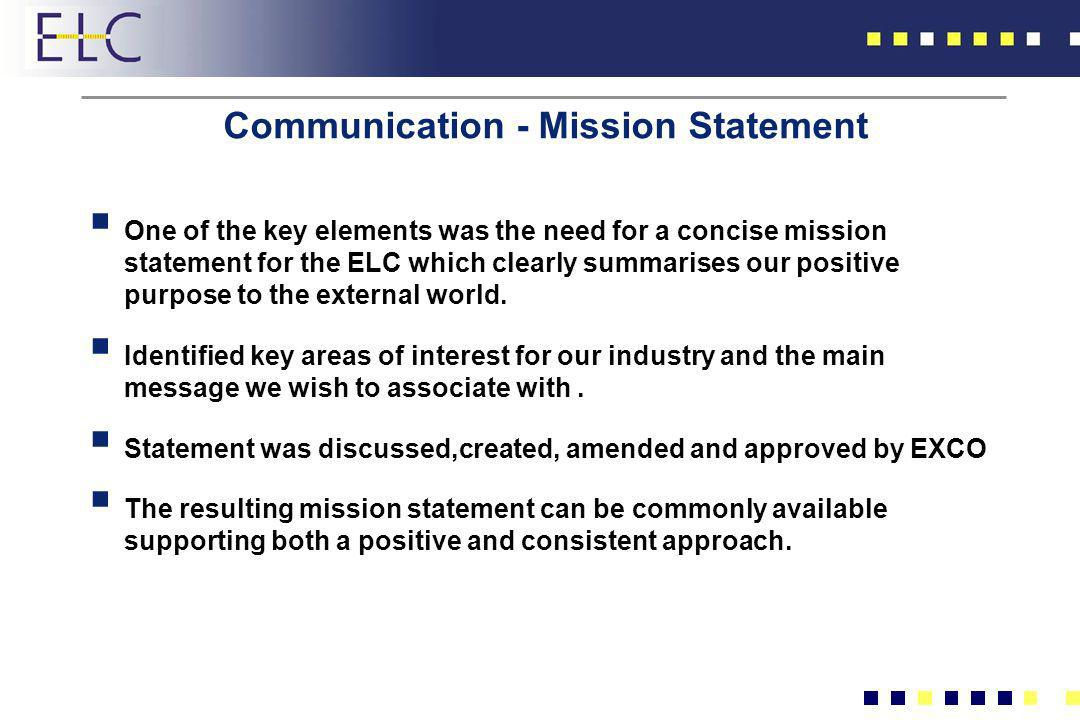 Communication - Mission Statement