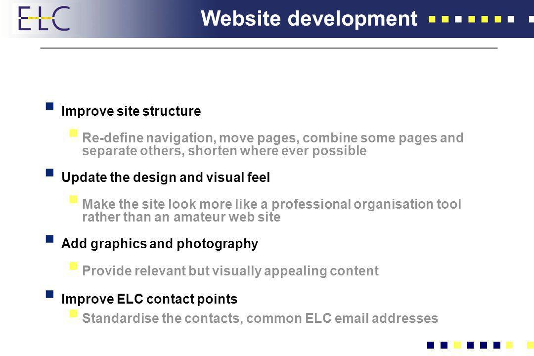 Website development Improve site structure