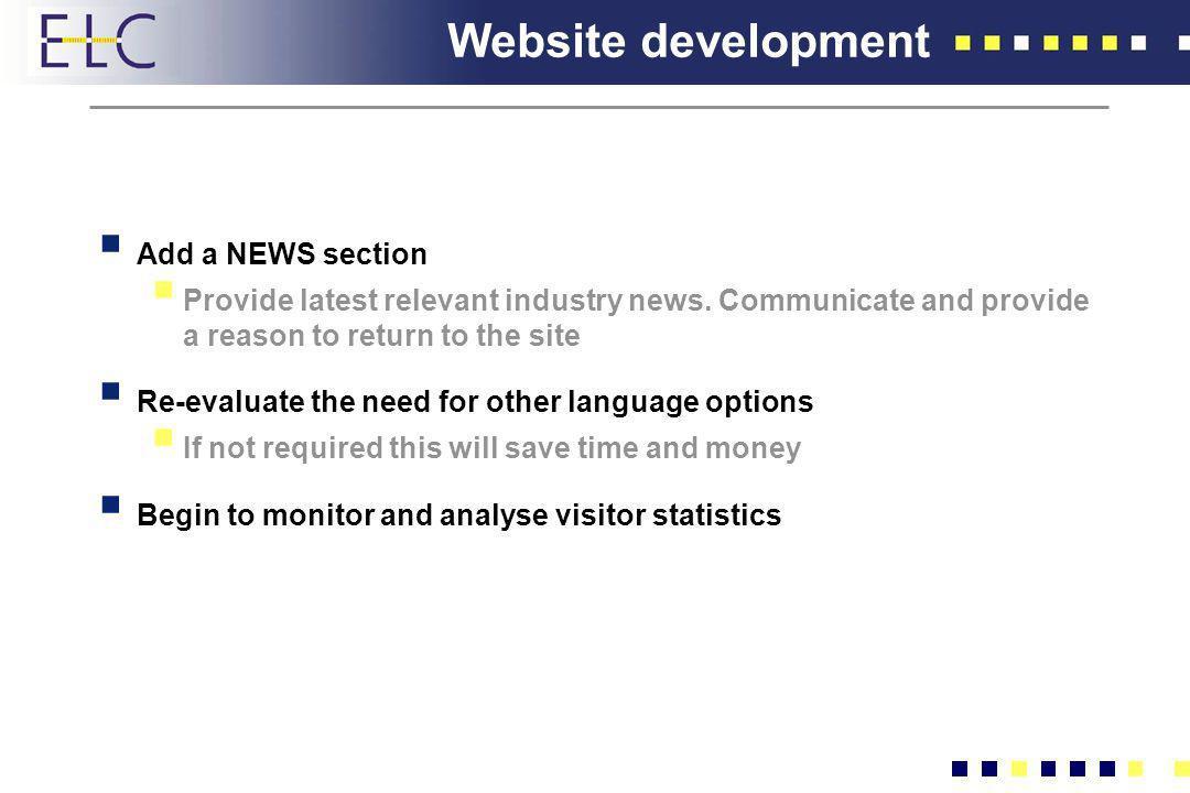 Website development Add a NEWS section