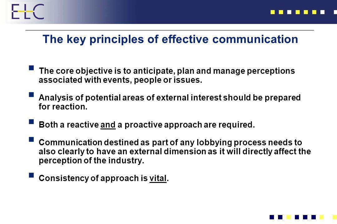 The key principles of effective communication