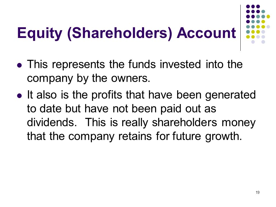 Equity (Shareholders) Account