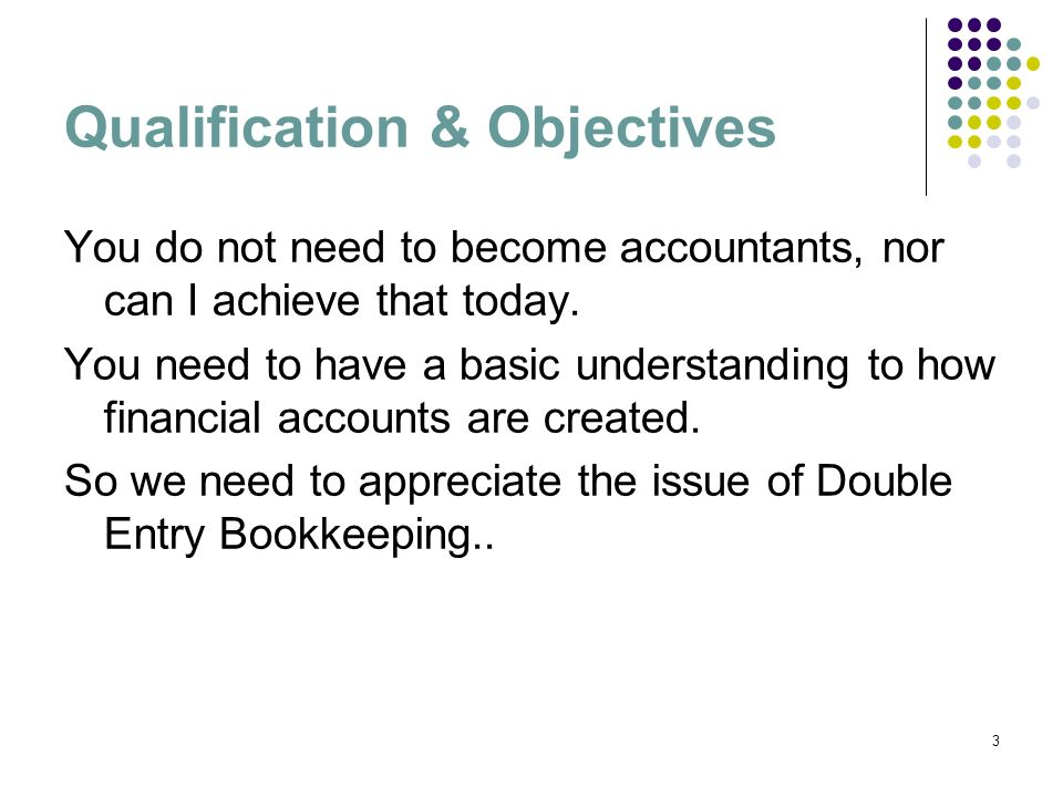 Qualification & Objectives