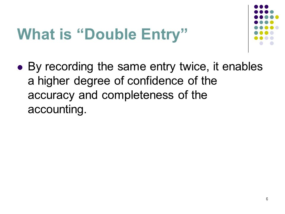 What is Double Entry