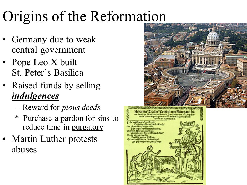 Origins of the Reformation