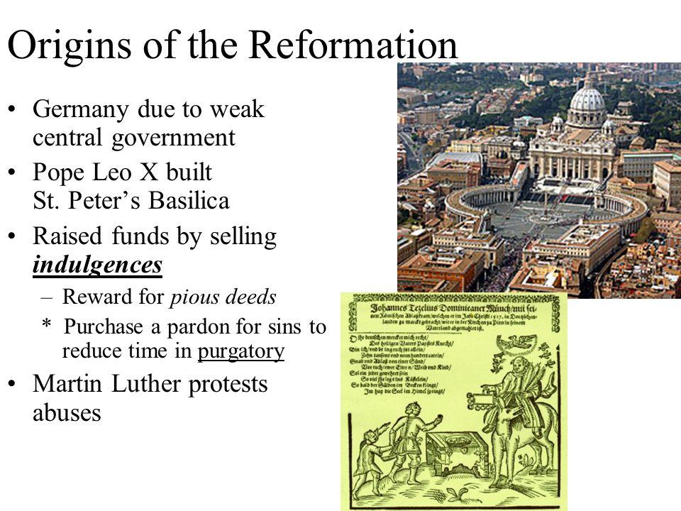 Origins of the Reformation