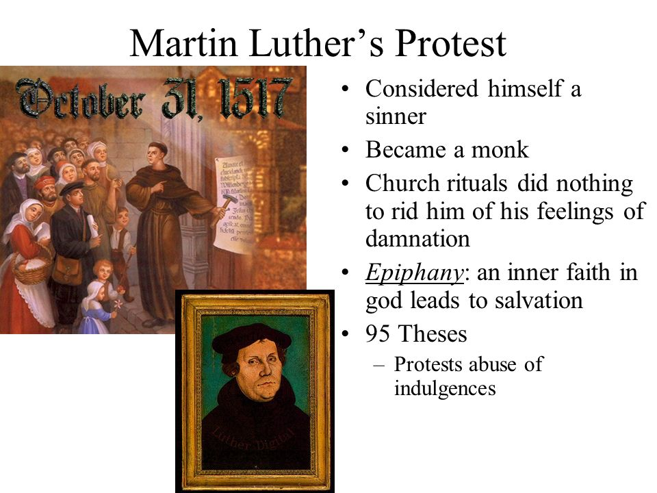 Martin Luther's Protest