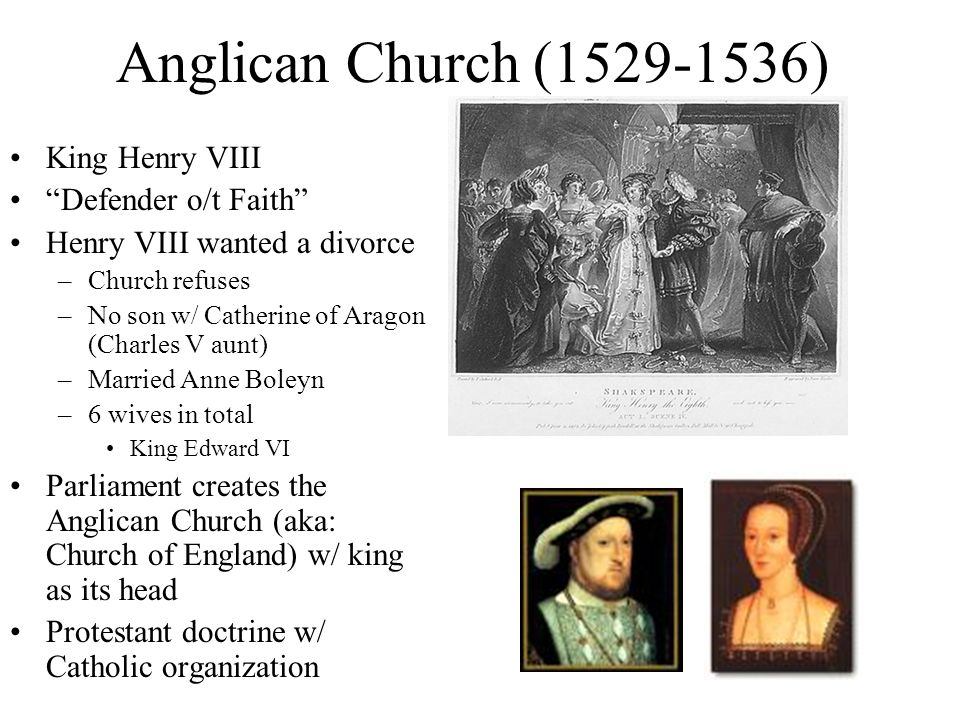 Anglican Church ( ) King Henry VIII Defender o/t Faith