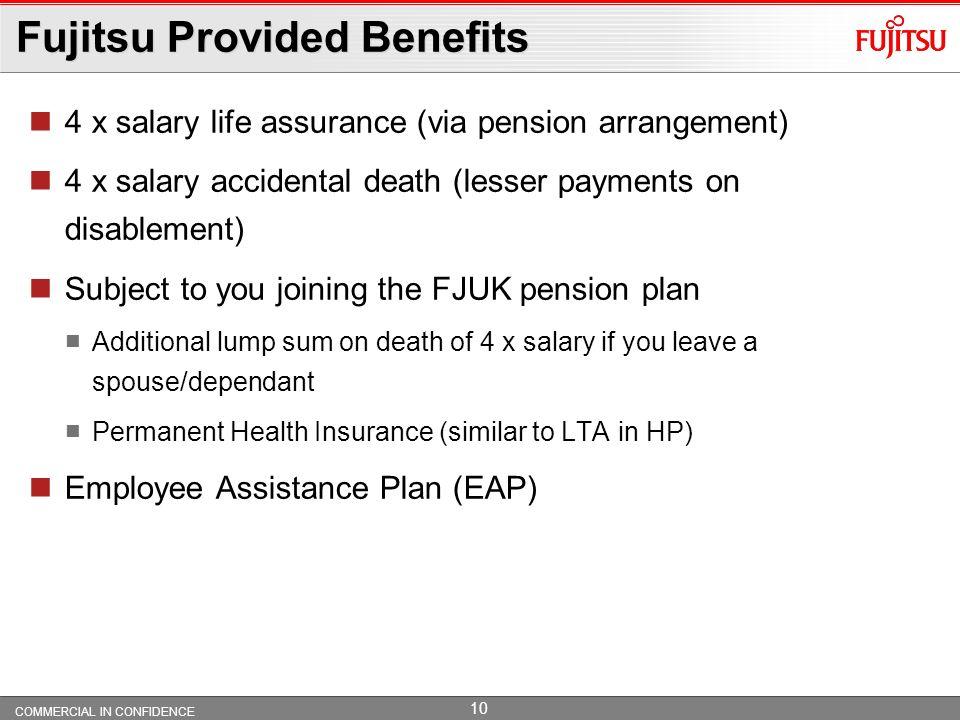 Fujitsu Provided Benefits