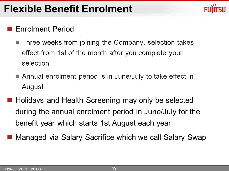 Flexible Benefit Enrolment