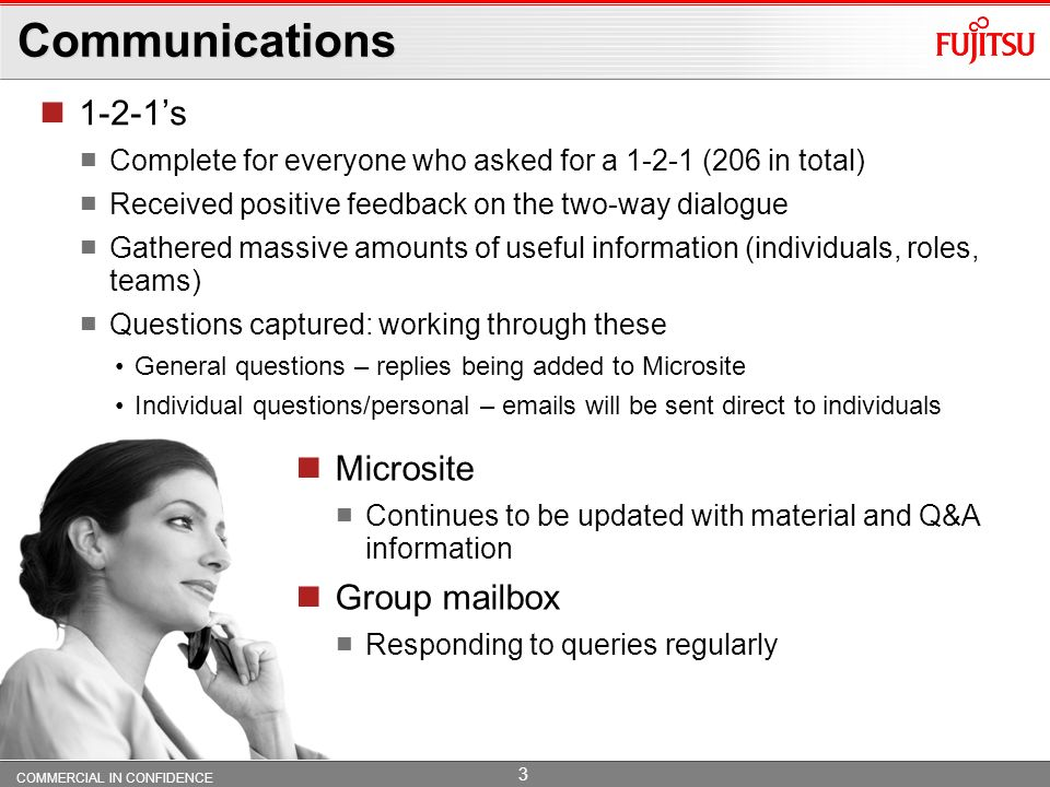 Communications 1-2-1's Microsite Group mailbox