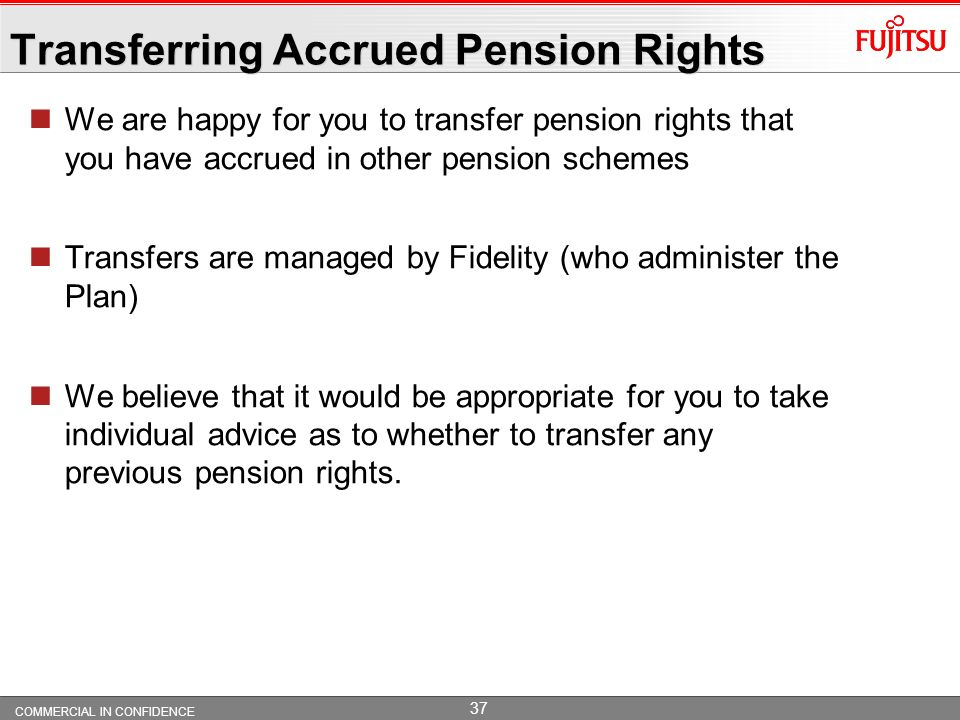 Transferring Accrued Pension Rights