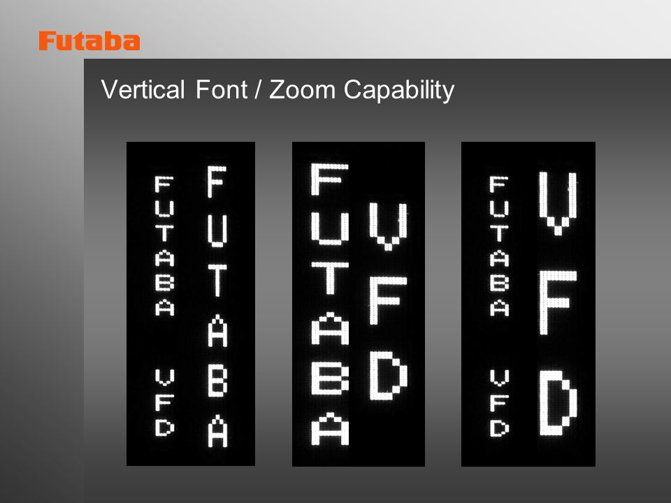 Vertical Font / Zoom Capability