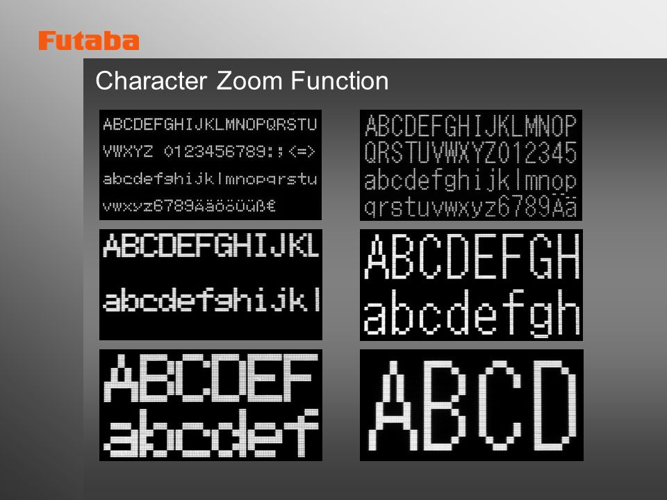 Character Zoom Function