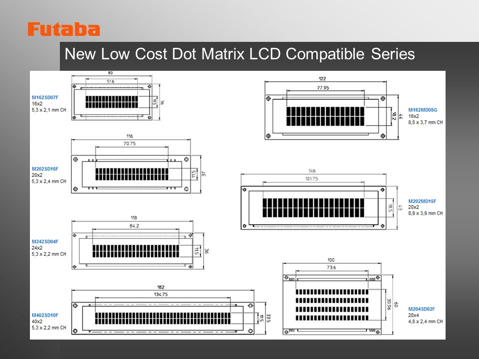 New Low Cost Dot Matrix LCD Compatible Series