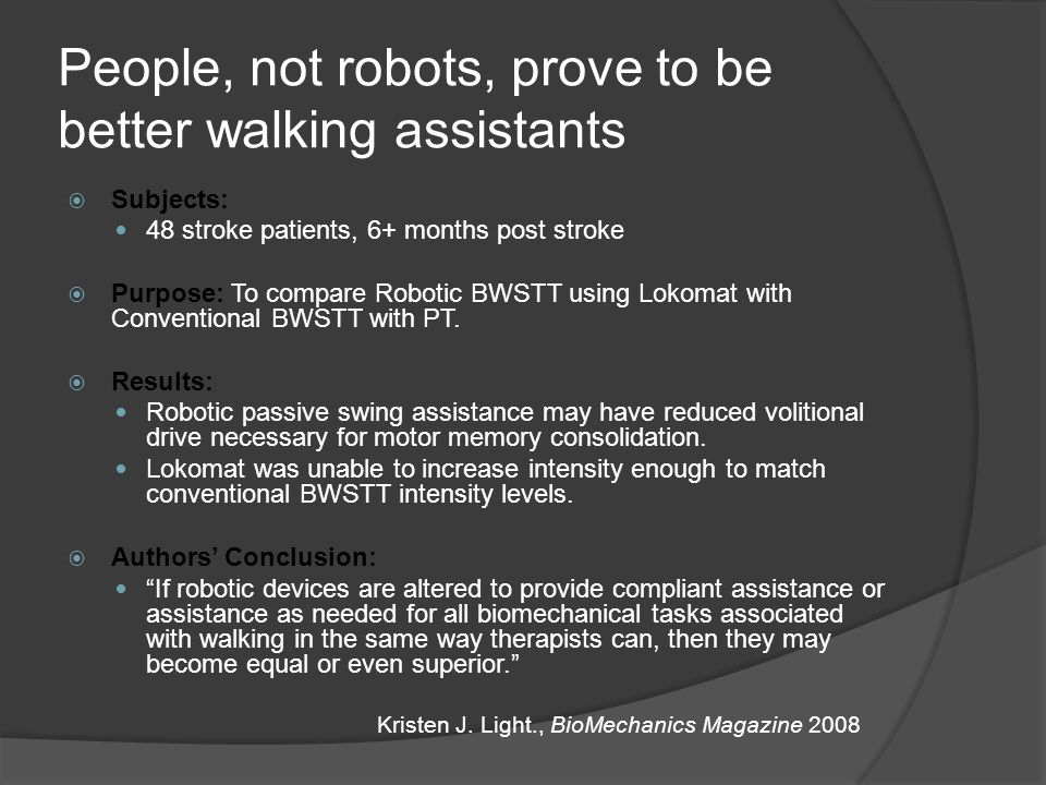People, not robots, prove to be better walking assistants