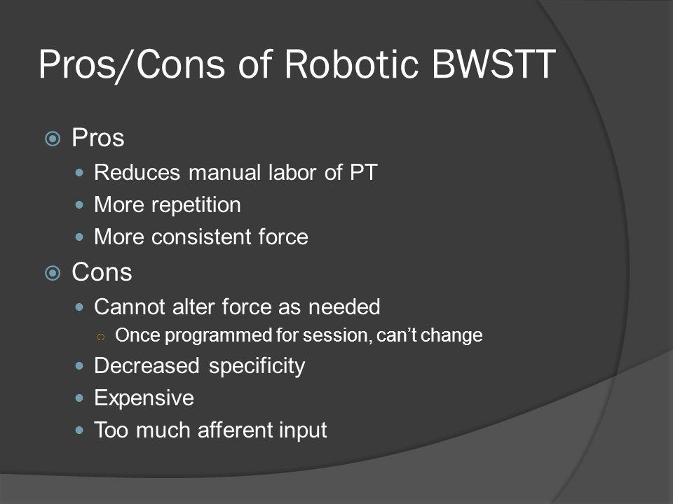 Pros/Cons of Robotic BWSTT