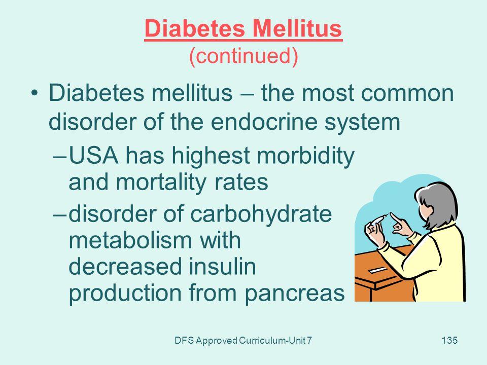 Diabetes Mellitus (continued)